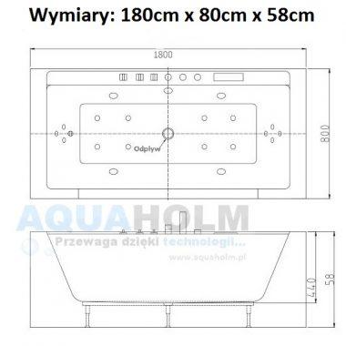 Aquaholm C-3210 180cm x 80cm x 59cm + PODGRZEWACZ WODY