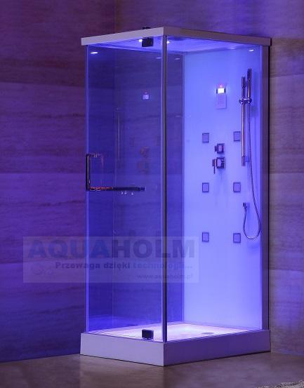 Aquaholm L-1207 kabina prysznicowa z hydromasażem, wymiary 80cm x 100cm x 215cm BIAŁA