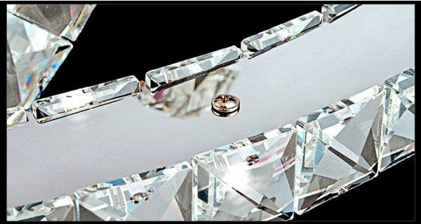 Żyrandol kryształowy RING 70x50x30 z pilotem B022