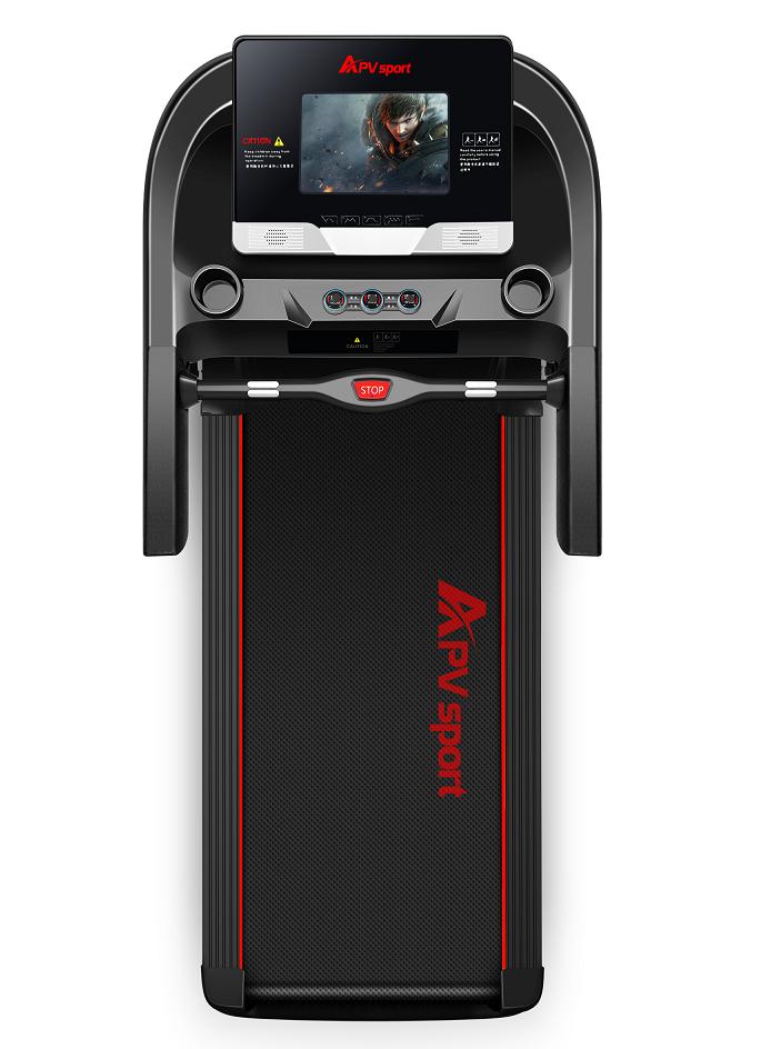 APVsport Bieżnia elektryczna do biegania i chodzenia APV8000, ekran TFT ANDROID 10.1 cala, dodatkowe wyposażenie GRATIS! - masażer, hantle, brzuszki, mata, pas biegowy 145x58cm