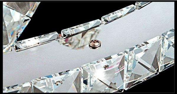 Żyrandol kryształowy RING 60x40x20 z pilotem B005