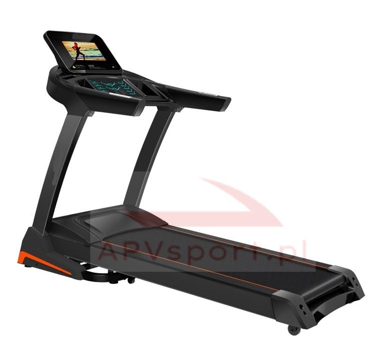Bieżnia do biegania i chodzenia APV680AS, ekran TFT 10.1 cala, pas biegowy 135x48cm