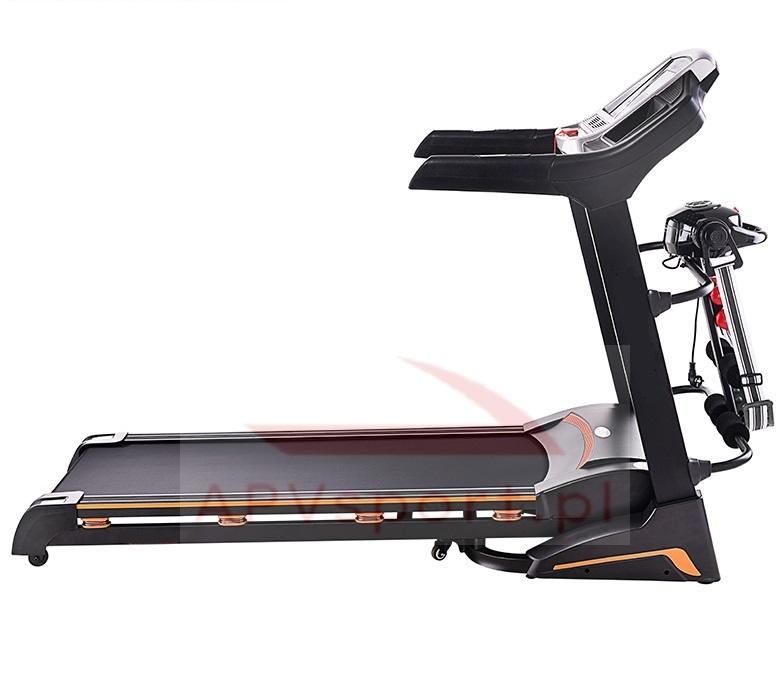Bieżnia do biegania i chodzenia APV6088, ekran LCD 5.5 cala, masażer, hantle, brzuszki, powierzchnia do biegania: 135x48cm
