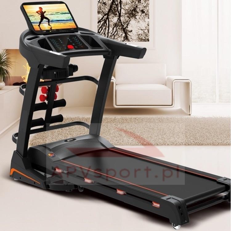 Bieżnia do biegania i chodzenia APV680AS, ekran TFT 15.6 cala, masażer, hantle, brzuszki, pas biegowy 135x48cm