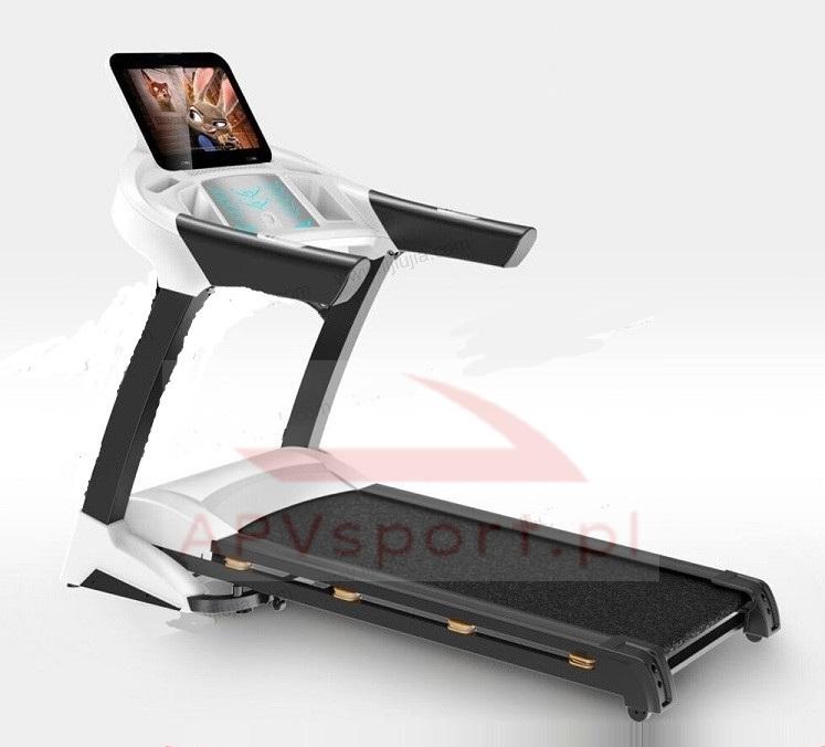 Bieżnia do biegania i chodzenia APV680AS, ekran TFT 15.6 cala, pas biegowy 135x48cm