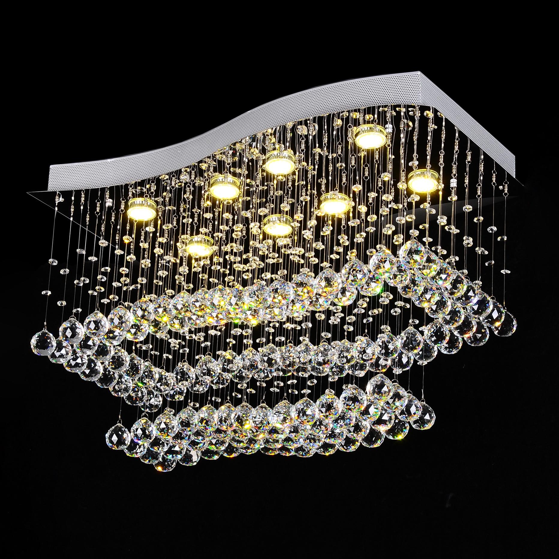 Żyrandol kryształowy 75x42x53cm 8xGU10 B010
