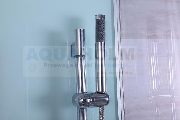 Aquaholm L-1207 kabina prysznicowa z hydromasażem, wymiary 80cm x 100cm x 215cm CZARNA