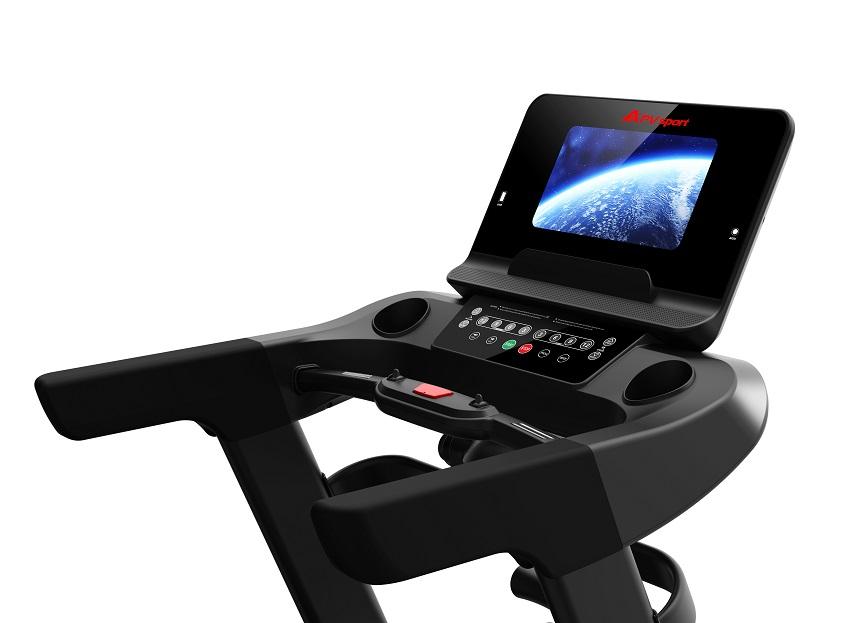 APVsport Bieżnia elektryczna do biegania i chodzenia APV8000T, ekran TFT ANDROID 10.1 cala, dodatkowe wyposażenie PROMOCJA! - masażer, hantle, brzuszki, mata, pas biegowy 145x58cm