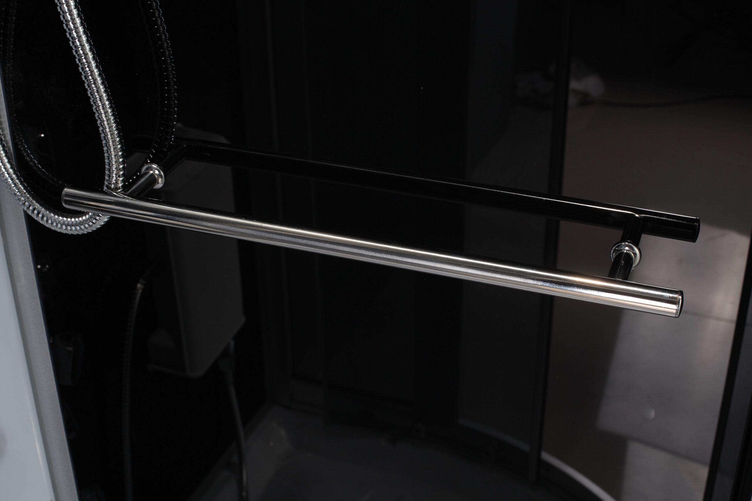 Treg K19 Kabina prysznicowa z hydromasażem 120cm x 80cm CZARNA LEWA